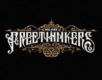 Freethinkers - handwritten logo design
