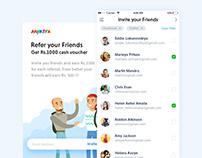 Invite your friends concept