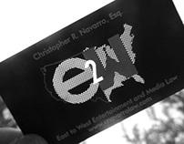 E2W laser cut business card