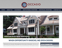 Occasio Management Services Website