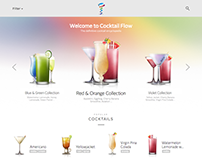 CocktailFlow website design