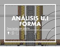 Análisis U.I Forma: Descripción del detalle / ARQU-3830