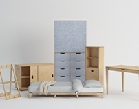 PLYful - The mobile foldable furniture set