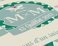 M&M wedding invitation