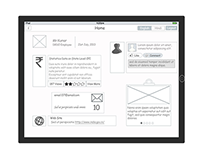 IPad Wireframe