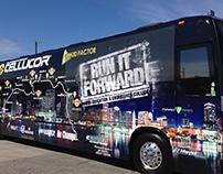 Run it Forward Bus Wraps (2014, 2015)