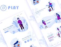 Music Player Website UI/UX Design