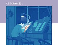 ASISA PYMES - Brochure illustrations