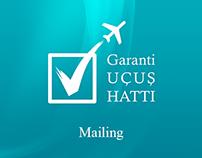 Garanti Uçuş Hattı Mailing Tasarımları
