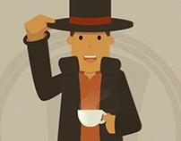 Professor Layton Illustrations
