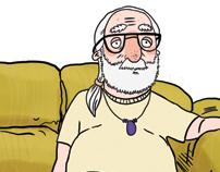 I, Hippie-- Saturday Night Live cartoon