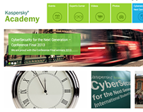 Kaspersky Academy | Website Design