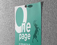 One Page Flyer Mockups