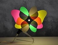 """Optical sculpture """"Transflower - butterfly"""""""