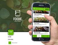Foodie Recipe Maker - ( App Design Concept )