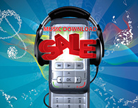 Music Download Sale Vodacom A5 Leaflet