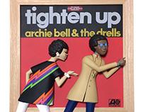tighten up 2.5D -VINYL COVER WALL ART-