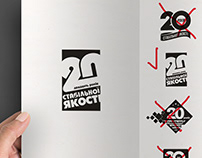 Designing of 20th Corporate Anniversary Sign