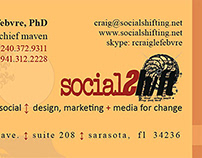 Social Shift Logo & Business Card