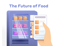 The Future of Food (food-tech startup illustrations)