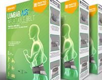 Lumbar AIR inflatable belt Packaging