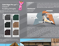 Product brochure for roofing company