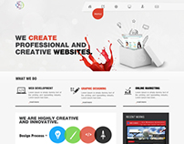 Web design for advertising agency