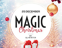 Magic Christmas Free PSD Flyer Template