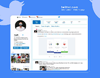 Redesign Twitter - Welcome page.