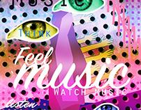 """Poster """"Feel music"""""""