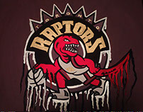 Commission Piece: Toronto Raptors Drip Painting