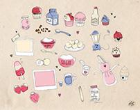 47 Street . Illustrations for Social Media. Recipe