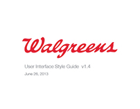 Walgreens User Interface Style Guide + GUI