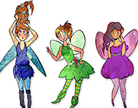 6 fairies - sticker set
