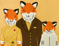 Fantastic Mr. Fox cut paper