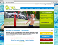 Oliver Parks and Recreation Web Redesign