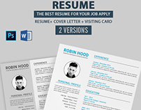 Resume+Cover Letter+Visiting Card