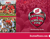 Dayton Flyers Champions and Scholars Fund brochure