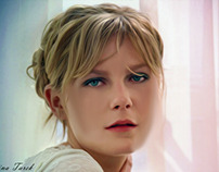 Kirsten Dunst Digital Painting Portrait