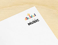 I Am Music logo and stationery design