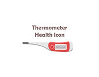 Red Thermometer Health Icon