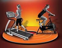 Advertising Poster Duatlon indor gym