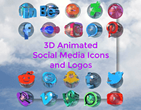 3D Animated Social Media Icons and Logos