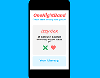 One Night Band App