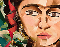 Frida Kahlo - a cutted paper collage