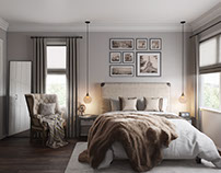 Terrific Bedroom design. 3D Visualization