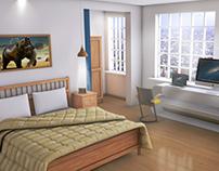 Render Habitación Realista