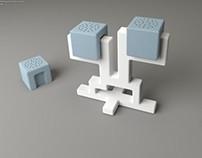 Q-bit   ceramic salt & pepper shakers