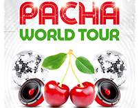 Pacha World Tour Party Flyer, PSD Template