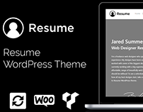 Resume WordPress Theme - CV Website Builder - Portfolio